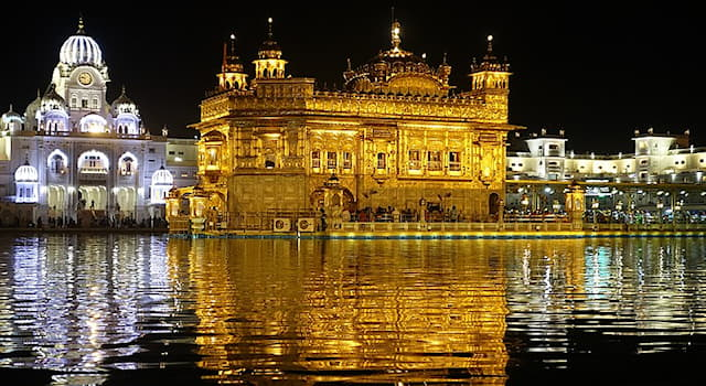 Culture Trivia Question: Known as the Golden Temple, the Harmandir Sahib in India is the most significant shrine of which religion?