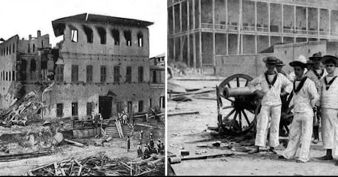 История Вопрос: Между какими странами произошла самая короткая война в истории, которая продолжалась 38 минут?