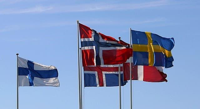 История Вопрос: На флаге какого государства впервые появился скандинавский крест?