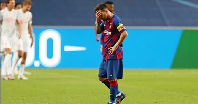 Спорт Вопрос: С каким счётом завершился матч 1/4 финала Лиги Чемпионов между Баварией и Барселоной в 2020 году?