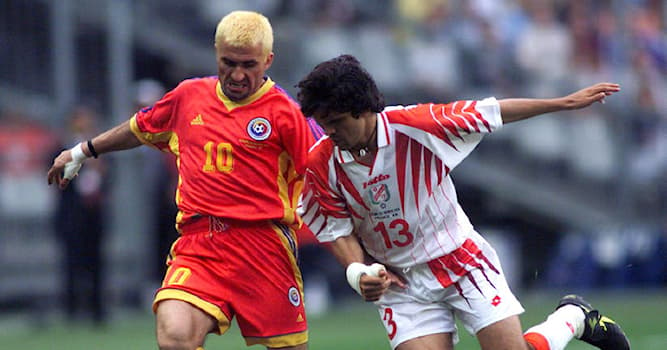 Sport Trivia Question: Which color did the Romanian football team dye their hair at the 1998 FIFA World Cup?