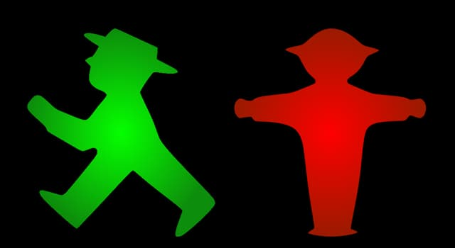 Culture Trivia Question: In which country is a little traffic light man (pictured) a popular symbol?