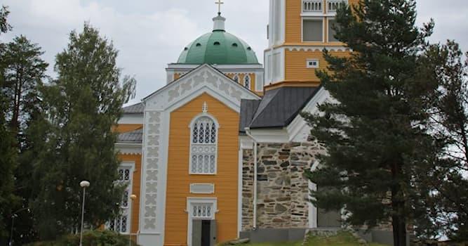 География Вопрос: В какой стране находится самая большая в мире лютеранская деревянная церковь?