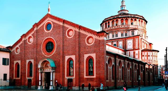 """Культура Вопрос: В каком городе Италии находится базилика, где можно увидеть роспись Леонардо Да Винчи """"Тайная вечеря""""?"""