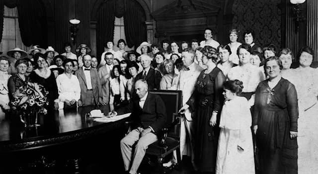 History Trivia Question: When was the right to vote for women, as per the nineteenth amendment, ratified in the U.S.A?