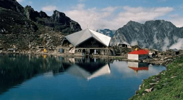 Culture Trivia Question: Which is this religious place on the banks of the Hemkund lake in India?