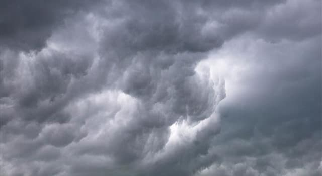 Science Trivia Question: Adding what word to the end of a cloud name indicates precipitation?