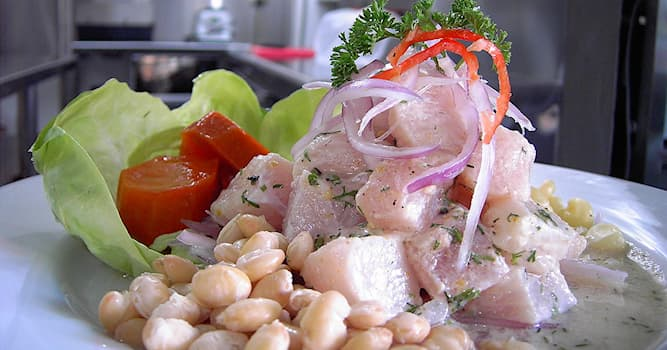 Culture Trivia Question: Ceviche is a type of meal that is made by marinating raw fish in which type of liquid?