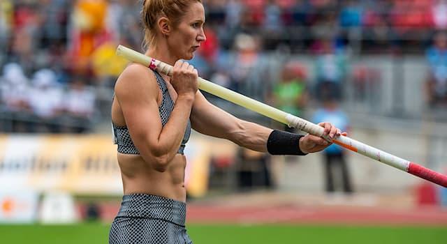 Спорт Вопрос: Для чего используется легкоатлетический шест?