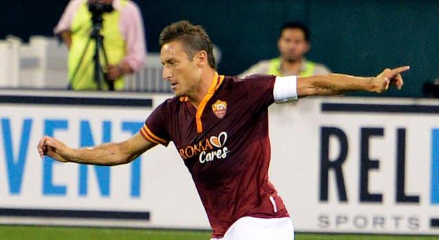 Спорт Вопрос: Франческо Тотти — это футболист какой страны?