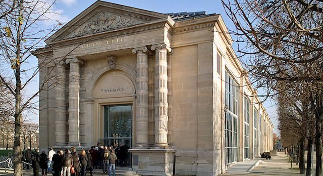Культура Вопрос: Где находится музей Оранжери, представляющий работы импрессионистов и постимпрессионистов?