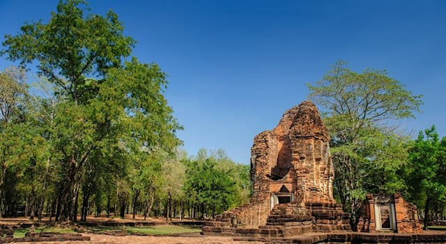 History Trivia Question: Approximately, how long has the area of ancient Si Thep District in Thailand been inhabited?