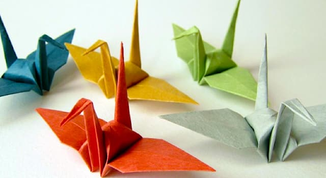 Culture Trivia Question: In what country did the word 'origami' originate as the art of paper folding?