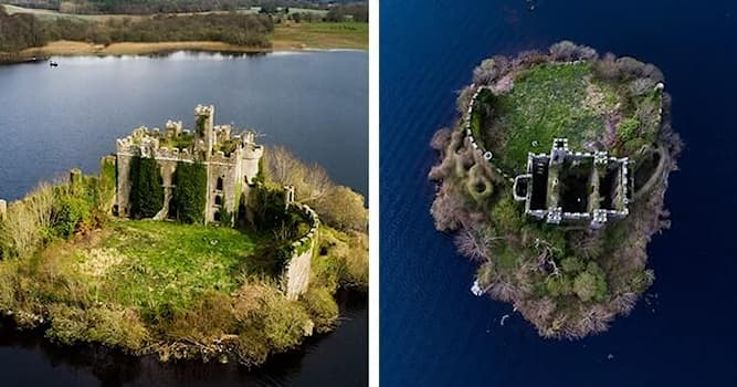 Geography Trivia Question: In which body of water is McDermott's Castle, Ireland, located?