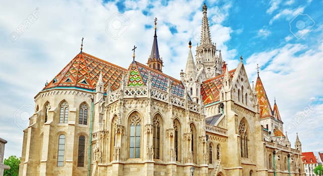 Geography Trivia Question: In which city can this historic church with a multicolored roof be found?