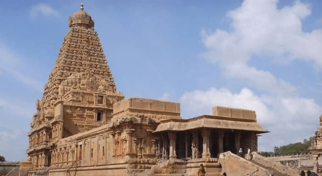 Culture Trivia Question: In which city in the state of Tamil Nadu, India, is this Brihadishvara temple?