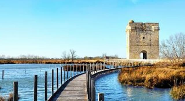 Geography Trivia Question: In which country is this remote medieval tower surrounded by a salt swamp located?
