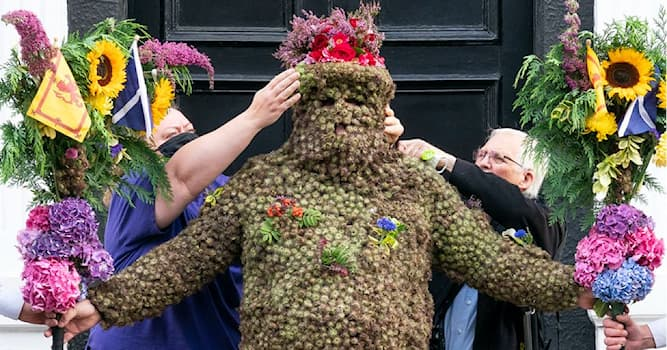 Culture Trivia Question: In which country does the Burryman ritual take place?
