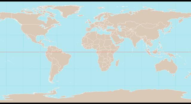 География Вопрос: Какую страну из перечисленных НЕ пересекает экватор?