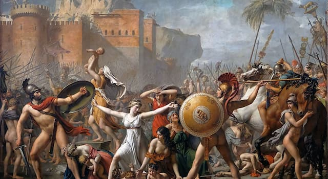 Культура Вопрос: Кто автор полотна «Сабинянки, останавливающие сражение между римлянами и сабинянами»?