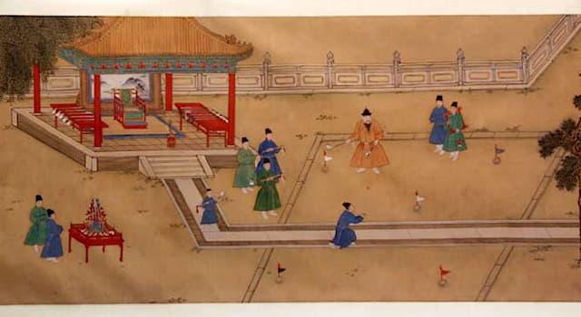 Спорт Вопрос: На какую современную игру похож чуйван — ныне не сохранившаяся игра в мяч, существовавшая в Древнем Китае?