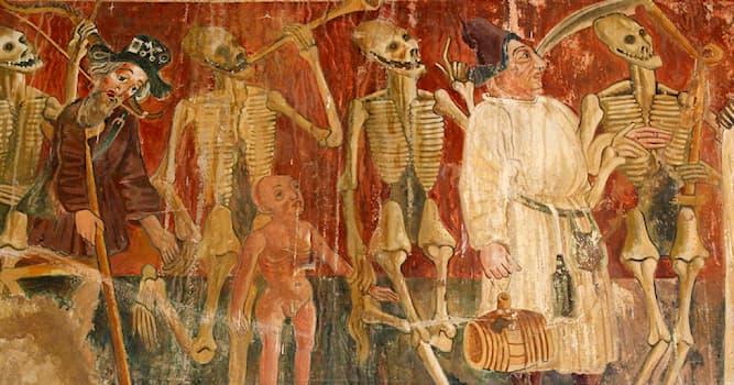 Культура Вопрос: Пляска смерти — аллегорический сюжет живописи и словесности Средневековья. Как ещё его называют?