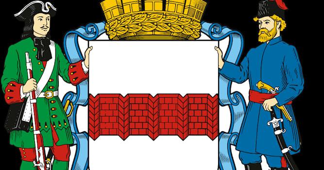 История Вопрос: Почему один из щитодержателей на гербе Омска одет в мундир Преображенского полка?