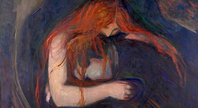 """Культура Вопрос: Под каким названием также известна картина """"Вампир"""" норвежского художника Эдварда Мунка?"""