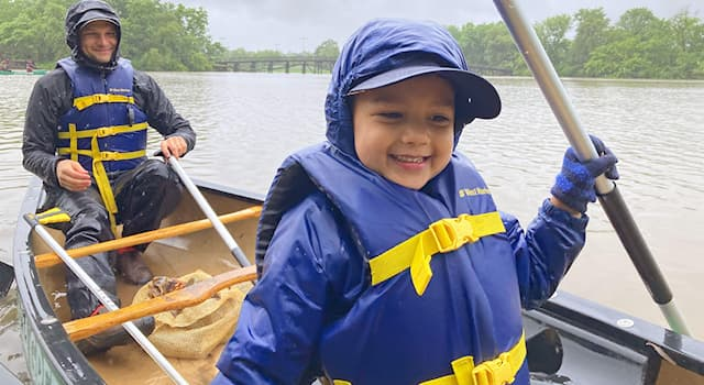 History Trivia Question: Primitive life jackets were originally made from which material?