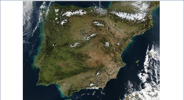 Geography Trivia Question: The Iberian Peninsula comprises parts of how many national states or territories?