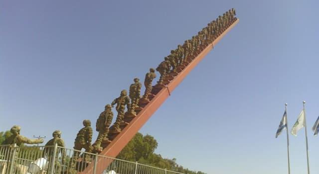 """География Вопрос: В какой из стран мира находится этот памятник, который называется """"Солдаты уходят в небо""""?"""