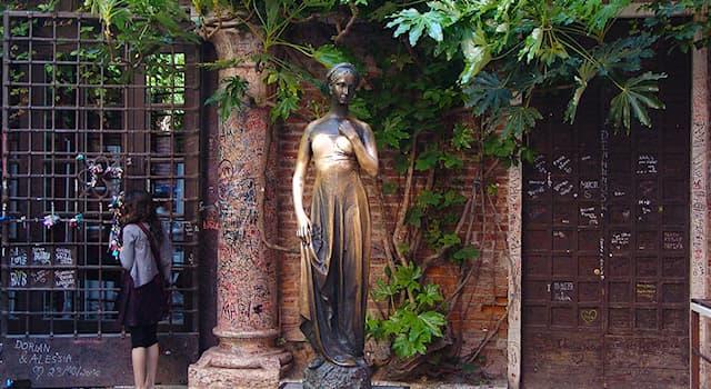 Культура Вопрос: В каком городе находится статуя Джульетты?