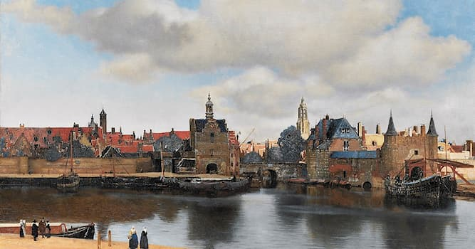 Культура Вопрос: Вид какого города изобразил на этой картине голландский художник Ян Вермеер?