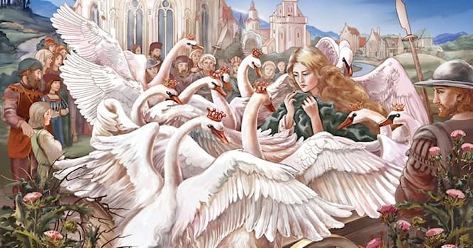 """Culture Trivia Question: What did Elisa use for knitting shirts to rescue her brothers from a spell in """"The Wild Swans"""" fairy tale?"""