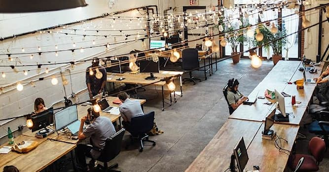 """Society Trivia Question: What does the term """"Coworking"""" refer to?"""