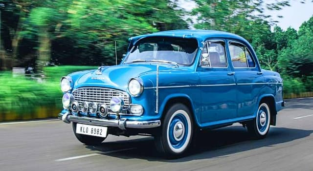 Culture Trivia Question: Which Indian motor company was the manufacturer of this Ambassador Mark 4 car?