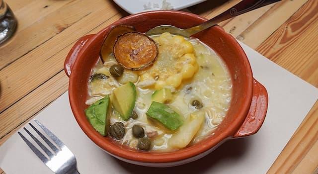 Общество Вопрос: Что из перечисленного — традиционный колумбийский картофельный суп?