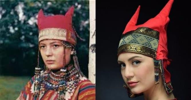 История Вопрос: Как называется древнерусский женский головной убор с рогами?