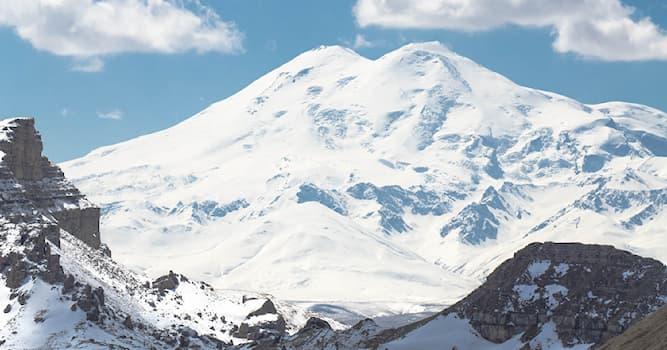 Природа Вопрос: Какова абсолютная высота горной вершины Эльбрус?