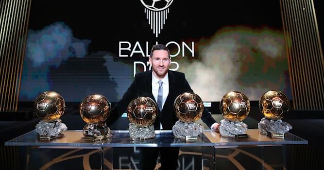 Спорт Вопрос: Кто имеет наибольшее количество золотых мячей?