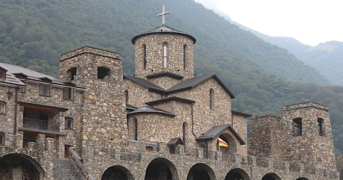 География Вопрос: На территории какого субъекта России находится самый высокогорный монастырь, изображённый на фото?