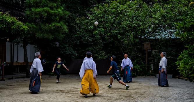 Спорт Вопрос: Разновидностью какой игры является кэмари – игра, известная в древней Японии и вновь набирающая популярность?