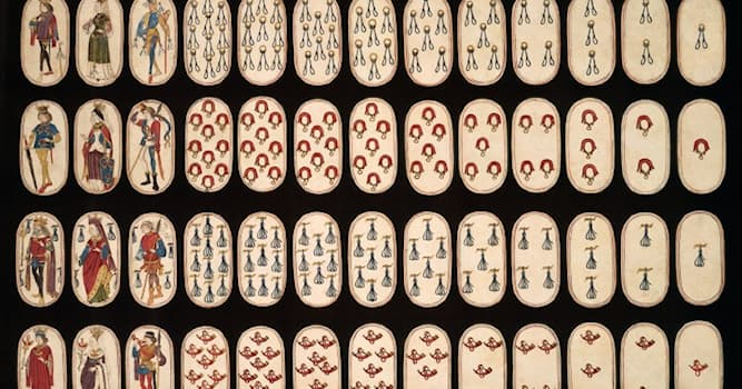 History Trivia Question: The oldest complete set of fifty-two playing cards is estimated to have been made in which period?