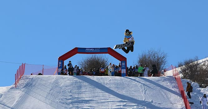 Спорт Вопрос: В каких соревнованиях лыжник или сноубордист прыгает с большого трамплина, выполняя в полёте разные трюки?