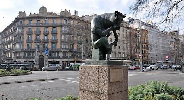 Культура Вопрос: В каком городе находится этот памятник, который в народе получил прозвище «Бык-мыслитель»?
