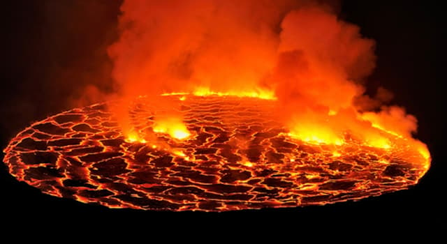 Geography Trivia Question: What continent is home to the world's largest lava lake?