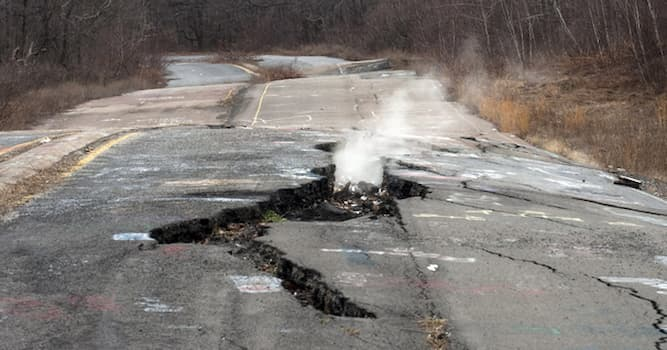 Geography Trivia Question: What Pennsylvania town has an underground fire that has been burning since 1962?